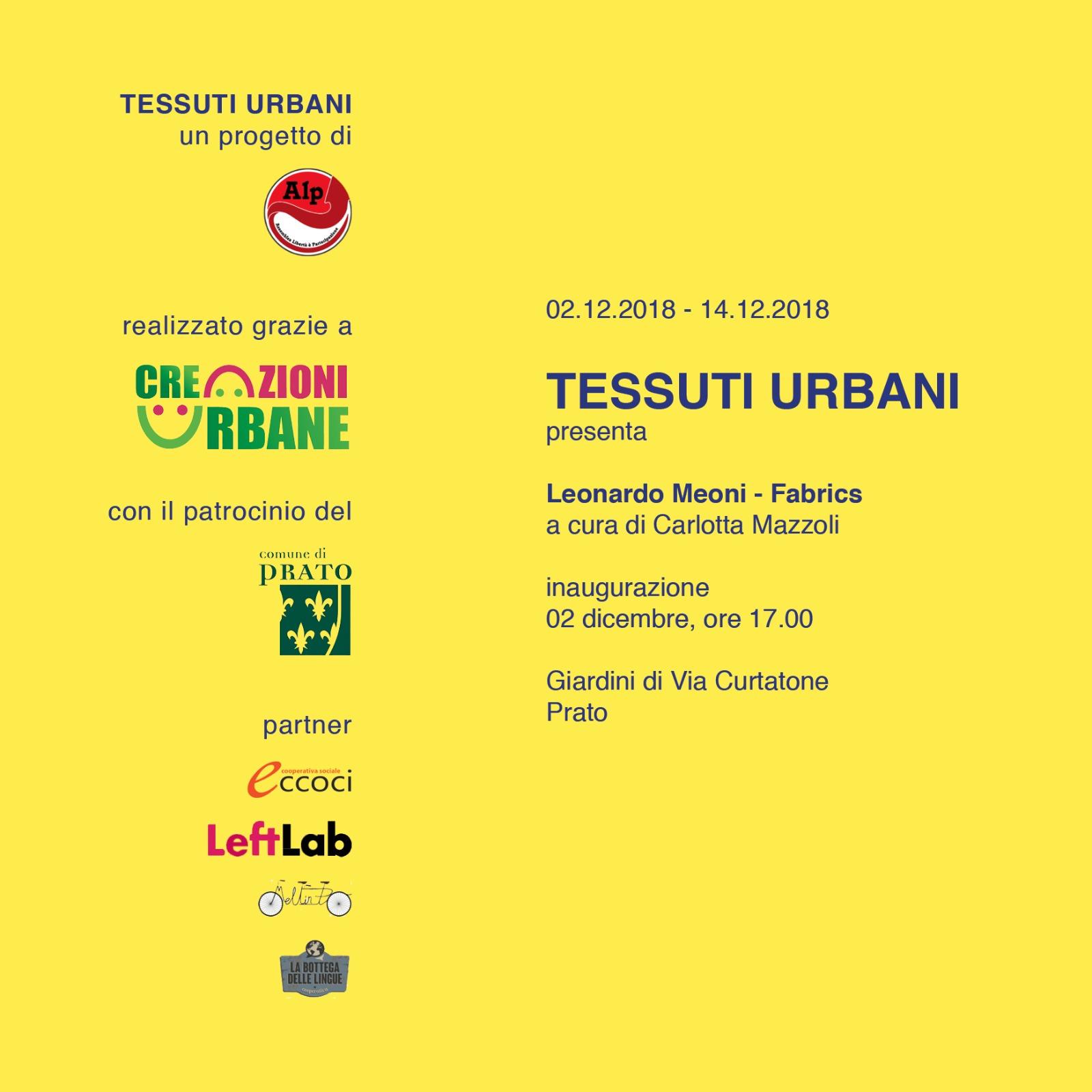 Tessuti Urbani partner inaugurazione