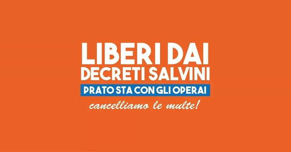 marcia per la libertà decreti salvini prato